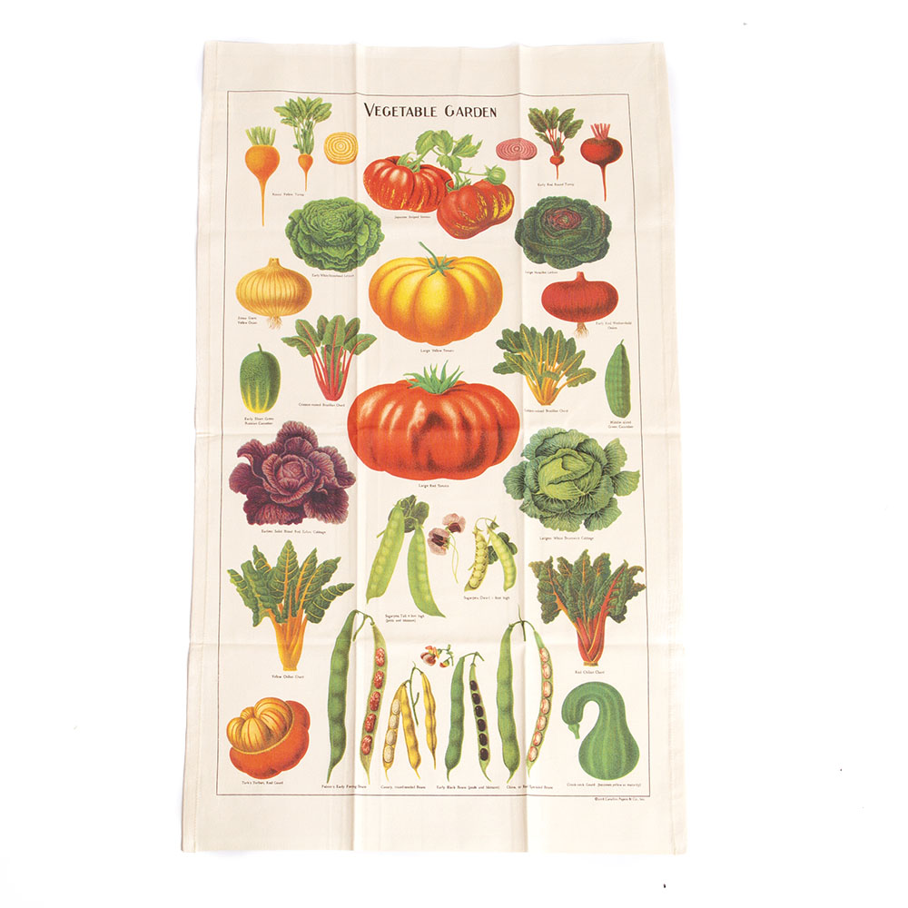 Cavallini, Cotton, Tea Towel, Garden