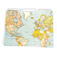 Cavallini, File Folder, World Map