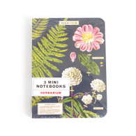 "Cavallini, Mini Notebook, Set, 4""x5.5"", Herbarium"