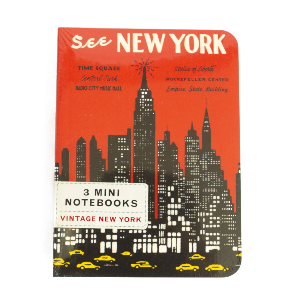 Cavallini, Mini, Notebook, NYC