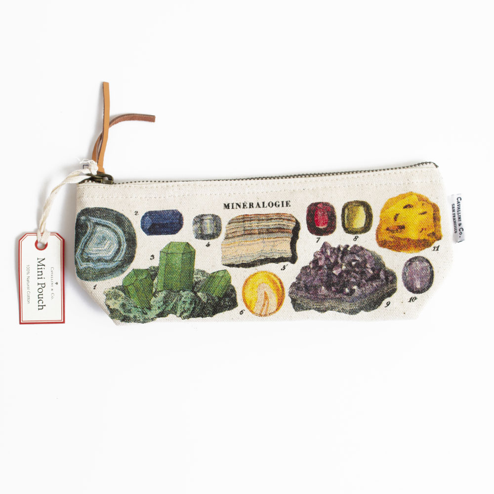 Cavallini, Pencil Pouch, Minerology