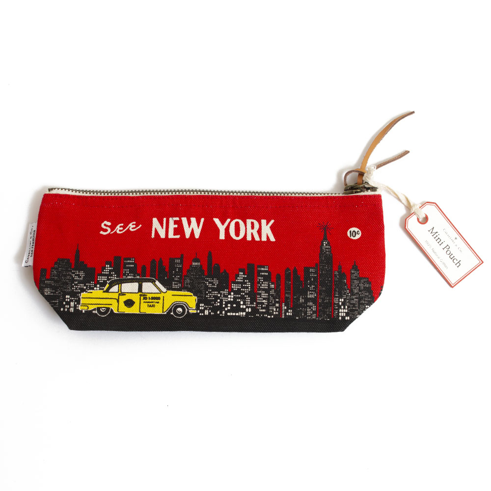 Cavallini, Pencil Pouch, New York