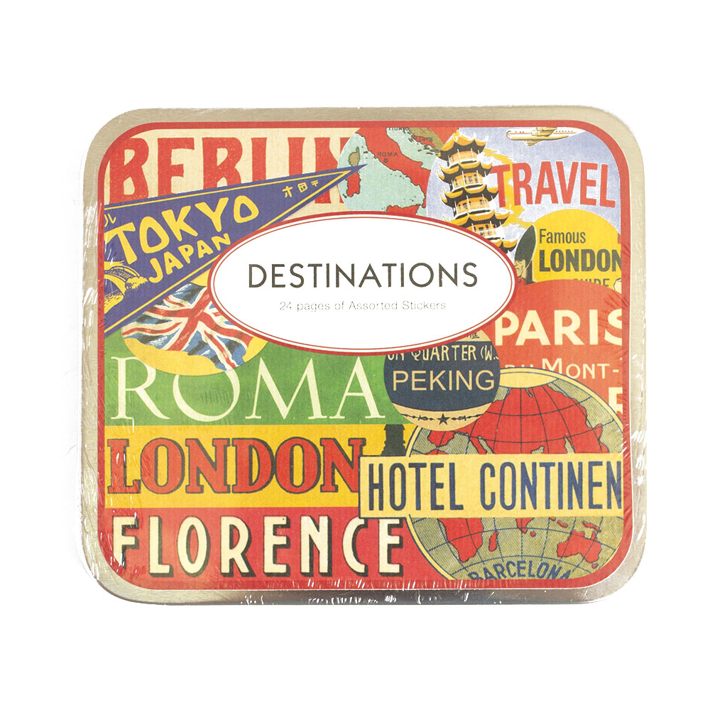 Cavallini, Sticker, Destinations