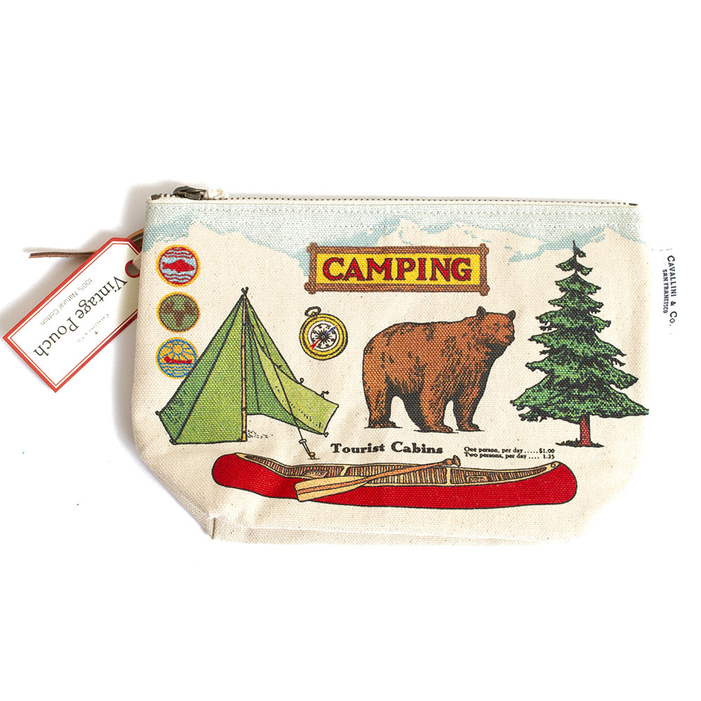 Cavallini, Cotton, Zipper, Pouch