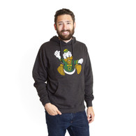 Charging Duck, Copyright Disney, Distress Print, Hoodie, Sweatshirt, Pullover