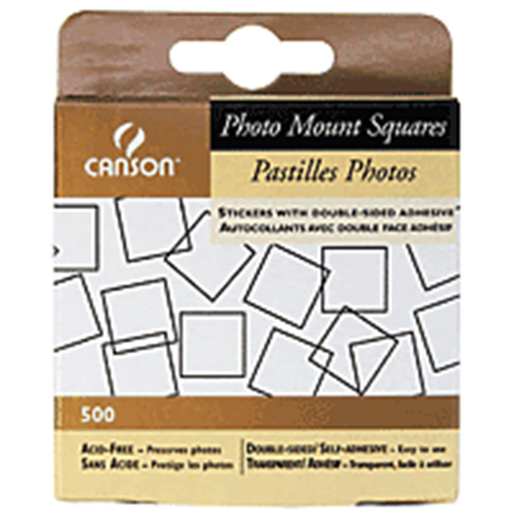 Clear, Canson, Self-Adhesive, Photo Squares, 500