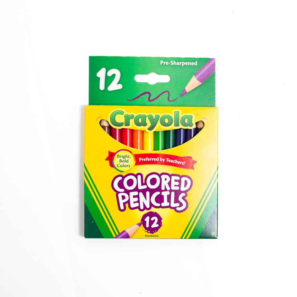 Crayola 1 2 Stick Colored Pencil 12 Color Set