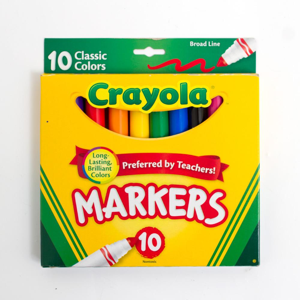 Crayola Classic Broad Marker 10 Color Set