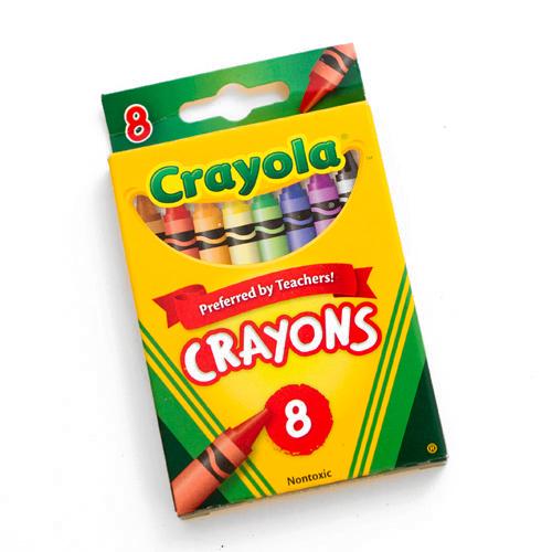 crayola crayon 8 color box