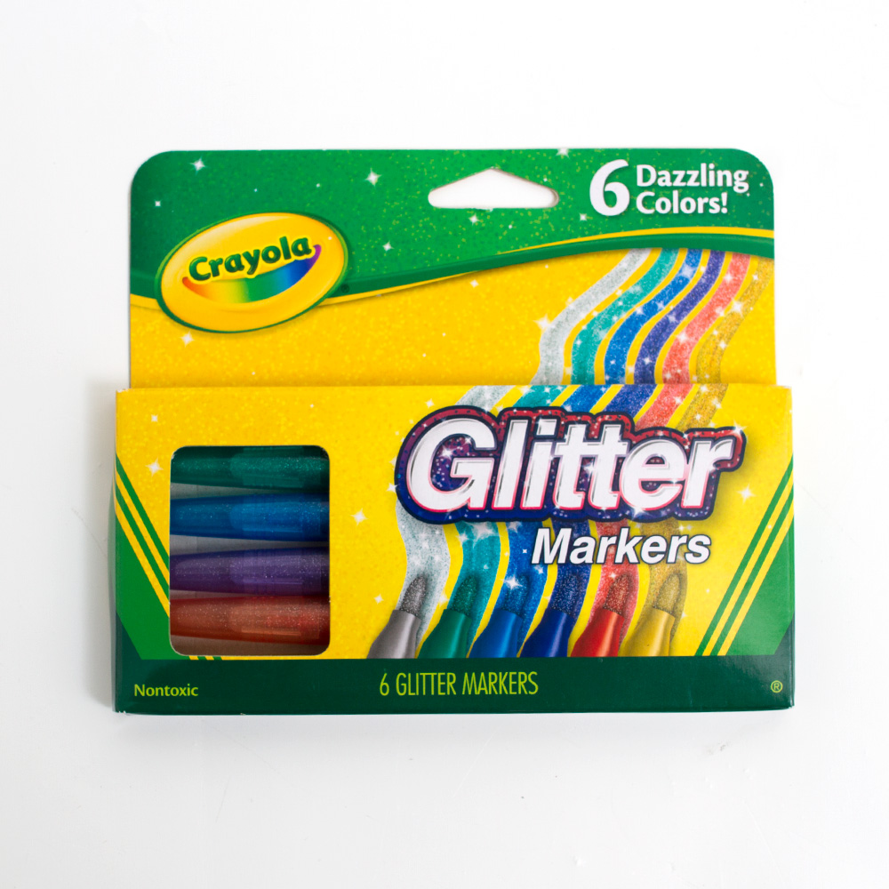 Crayola Glitter Marker 6 Color Set
