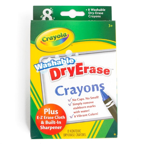 Crayola Washable Dry Erase Crayon 8 Color Set