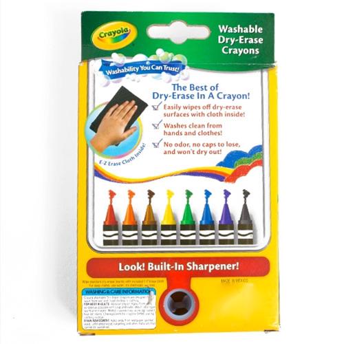 crayola washable dry erase crayon 8 color set
