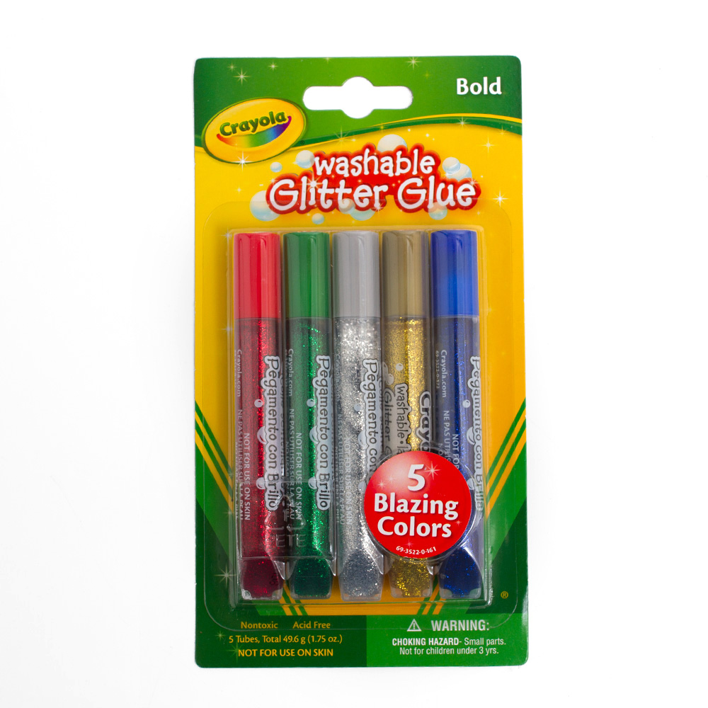 Crayola Washable Glitter Glue 5 Basic Color Set