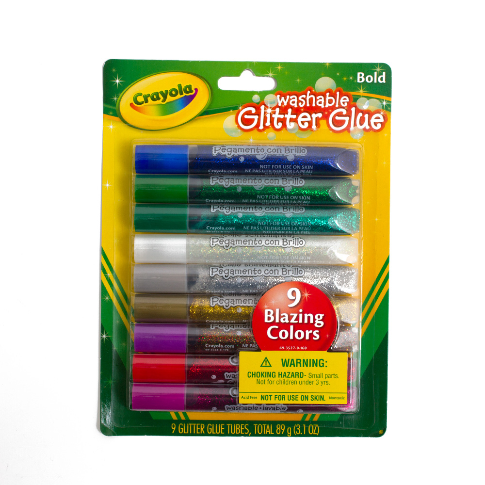 Crayola Washable Glitter Glue 9 Color Set