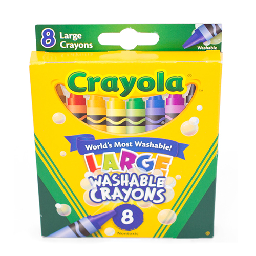 Crayola Washable Large Crayons 8 Color Box