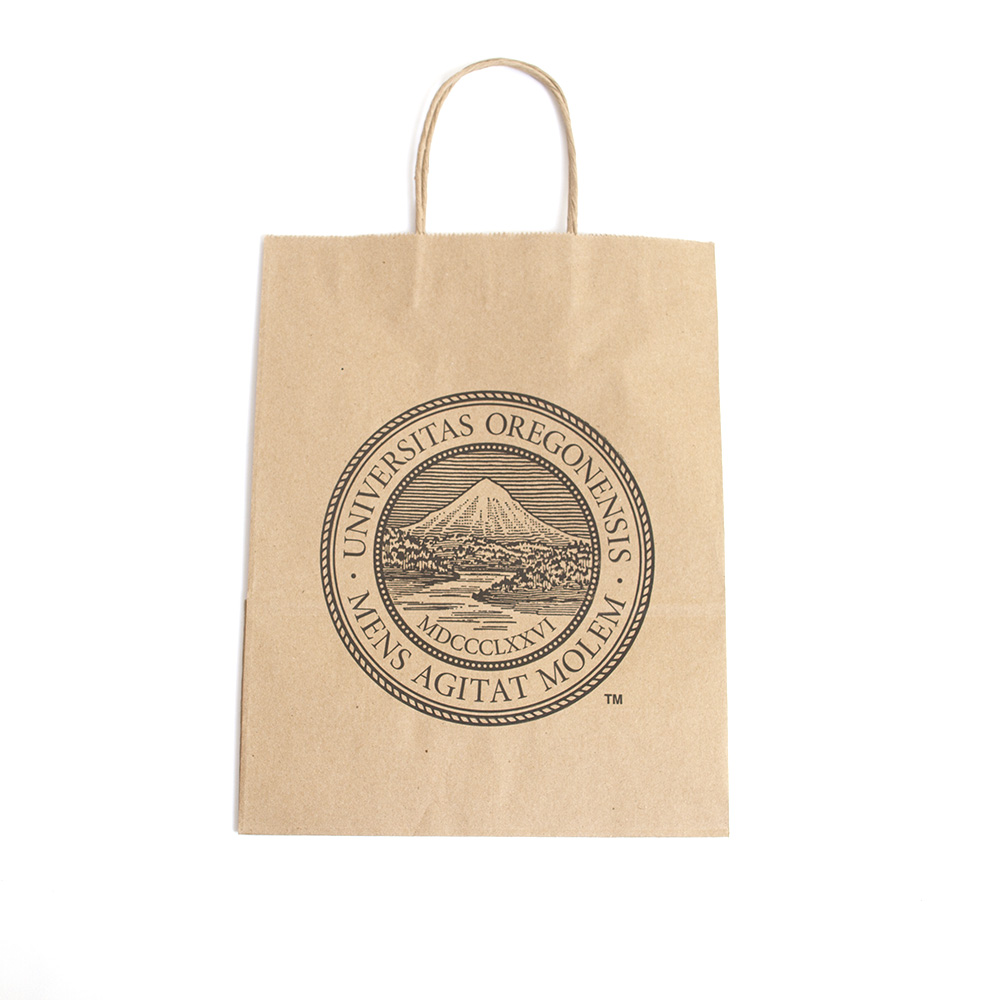 Oregon Seal, Creative Minds, Brown, Gift Bag