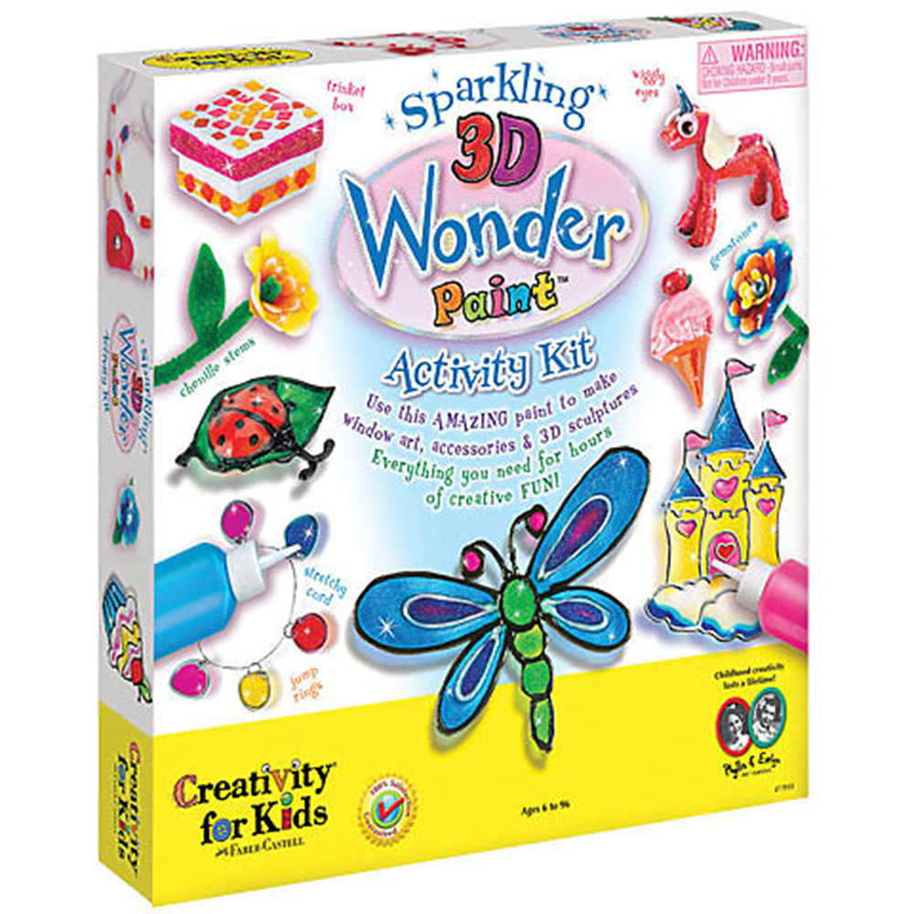 Creativity for Kids, Art Kit, Sparkling 3D Paint