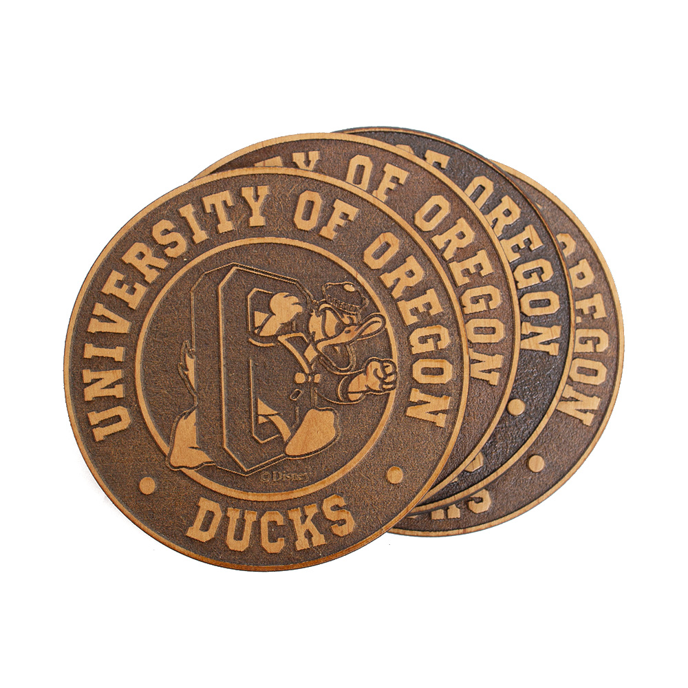 Duck through O, DTO, Timeless Etchings, Coaster, 4 pack