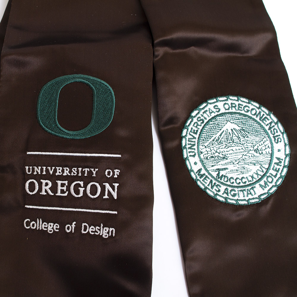 Degree Stole, College of Design, Close-up