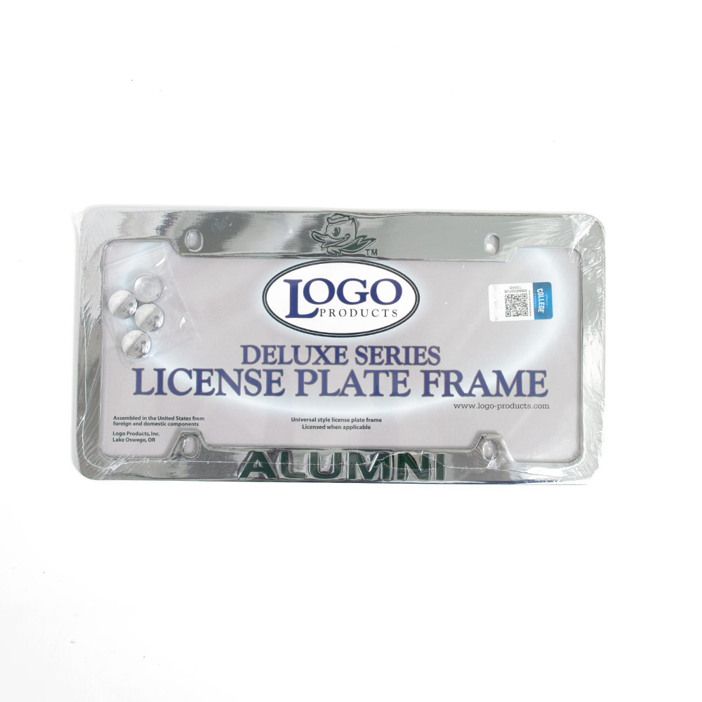 Deluxe Metal Fighting Duck Alumni License Frame