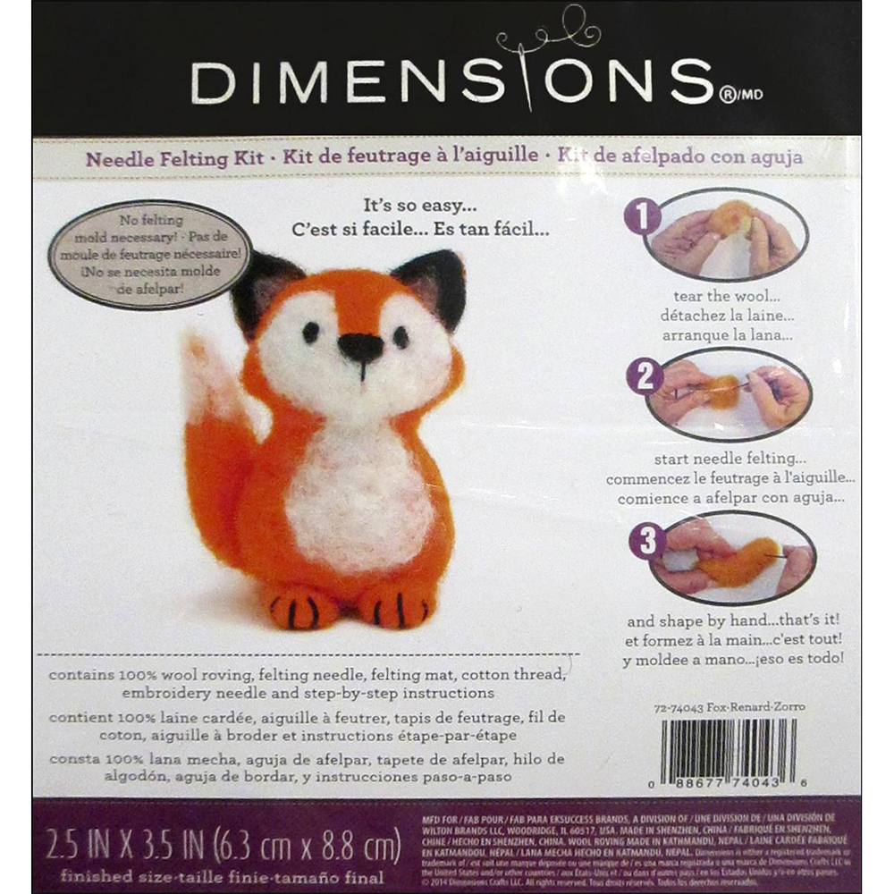 Dimensions, Needle Felting, Kit