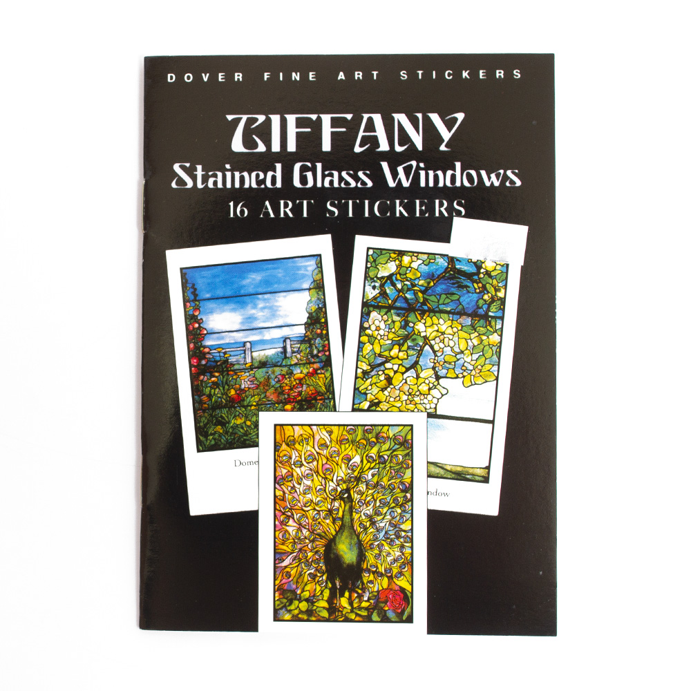 Dover, Sticker, Book, Tiffany, Glass