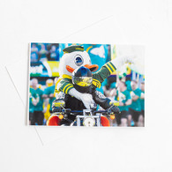 Duck on Harley, Greeting, Card