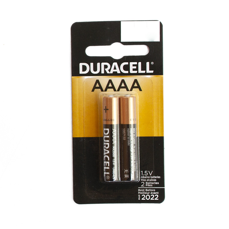 Duracell, AAAA, Battery, 2 Pack