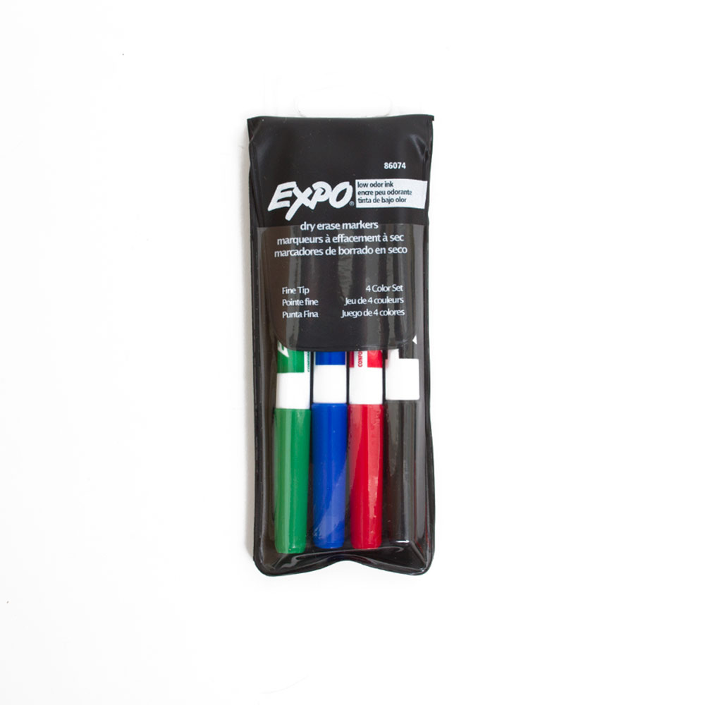EXPO, Dry Erase, Marker, 4 Count