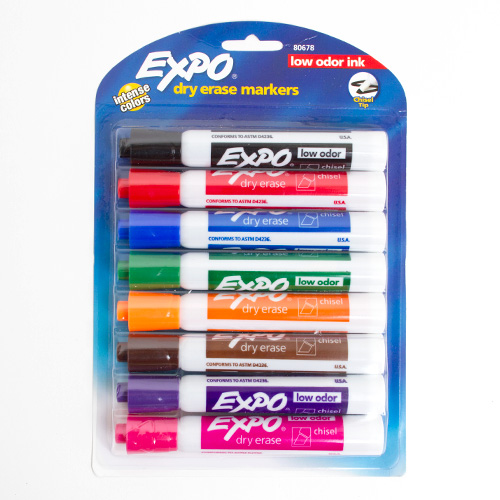 EXPO Low Odor Dry Erase Markers 8ct
