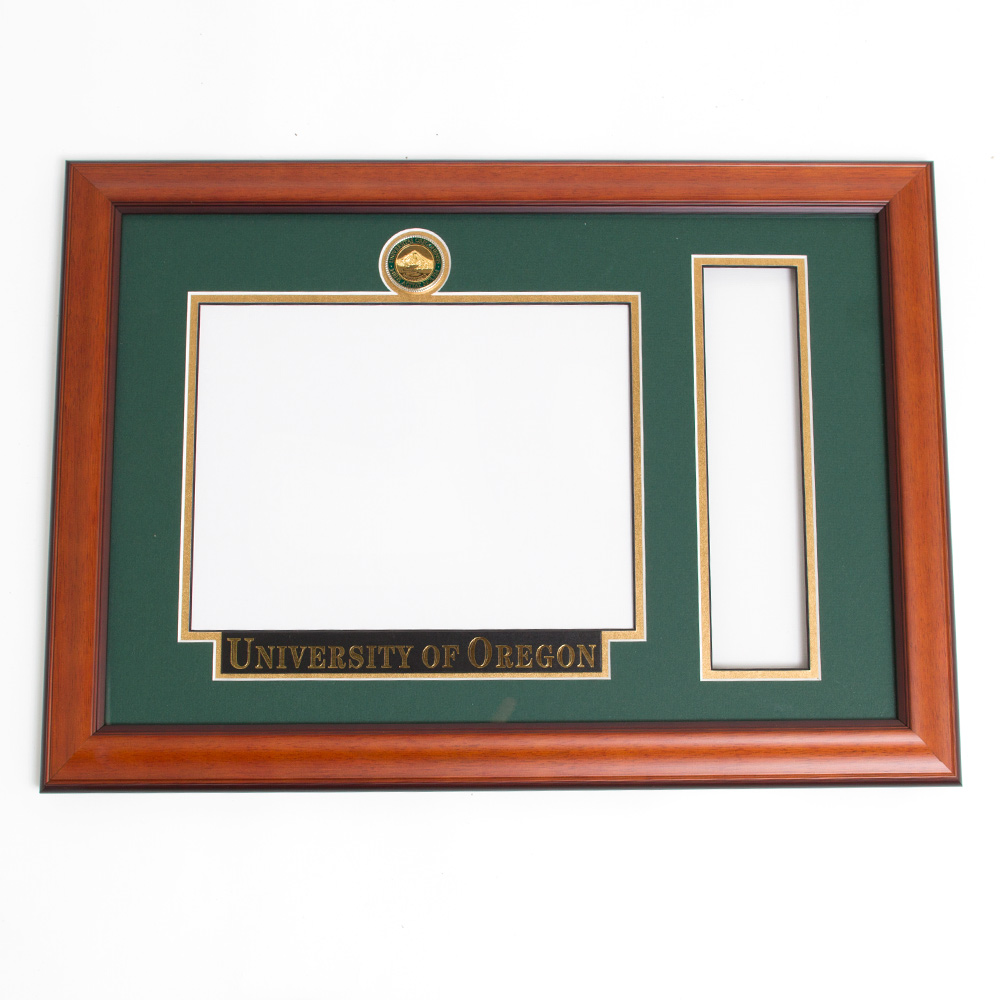 Elite Tassel Diploma Frame With Name Plate_Alder