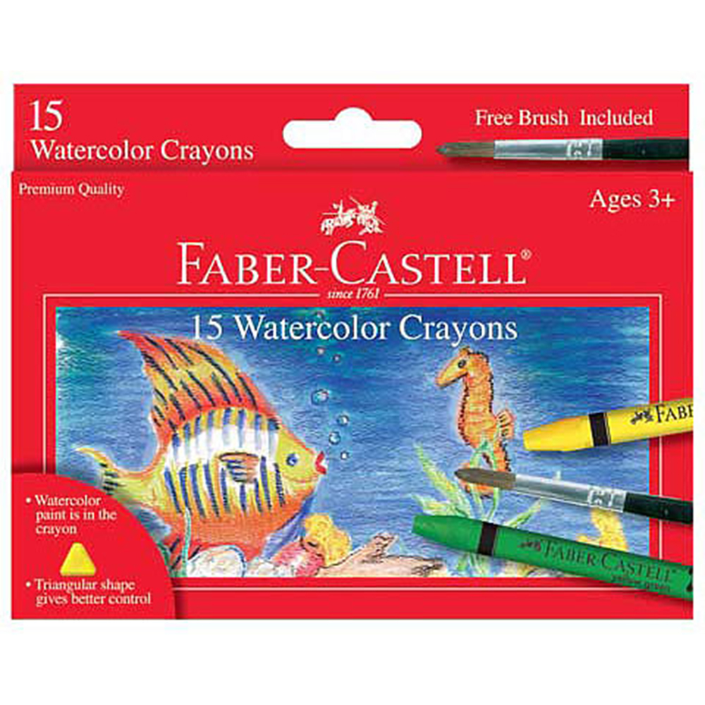 Faber Castell, Watercolor Crayon, 15 Color, Set