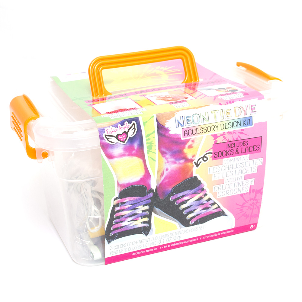 Fashion Angels, Neon Tie Dye, Design Kit, Socks & Laces