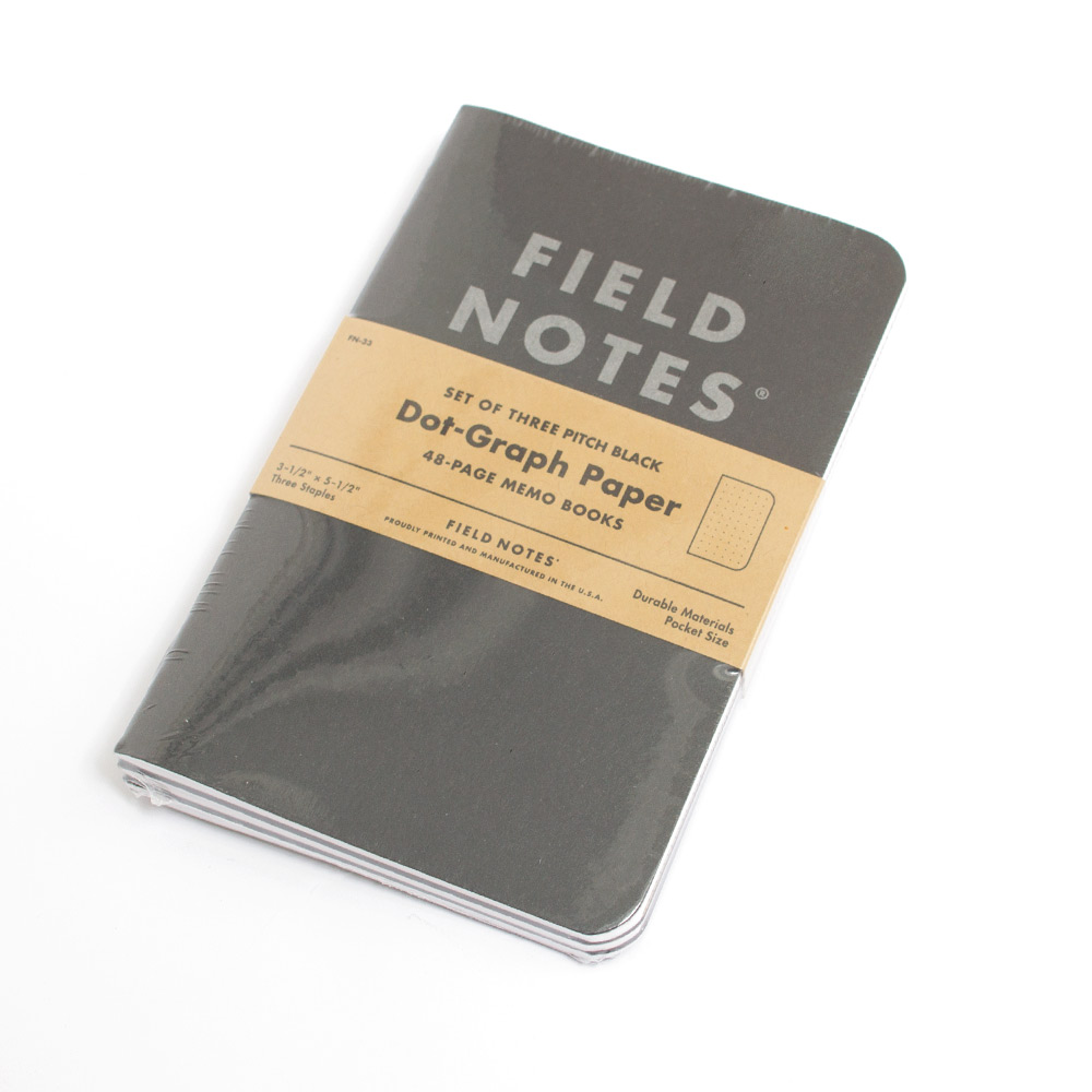 field notes pitch black dot graph 3pk