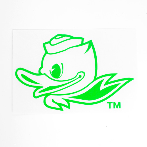 Fighting Duck 1-Color 4 Decal Vinyl Transfer_Neon Green