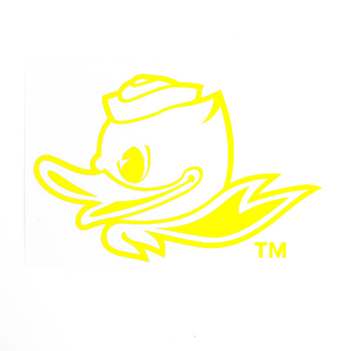 Fighting Duck 1-Color 4 Decal Vinyl Transfer_Yellow