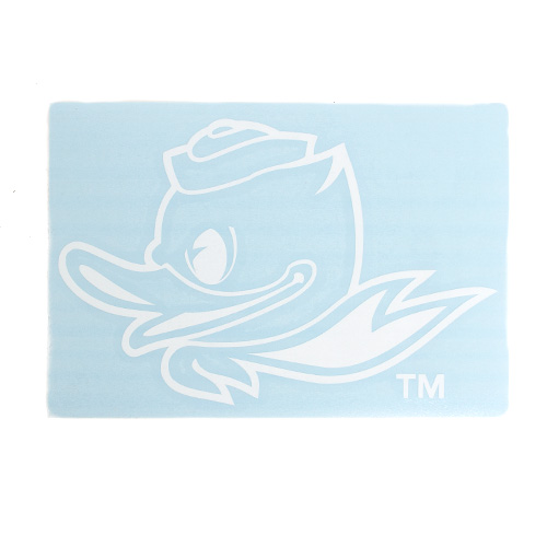 Fighting Duck 1-Color 4 Decal Vinyl Transfer_White