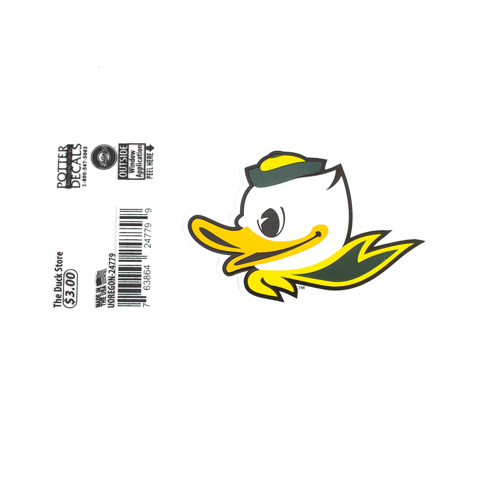 Fighting Duck, 2 inch, Decal