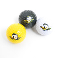 Fighting Duck, Golf Ball, 3 Pack