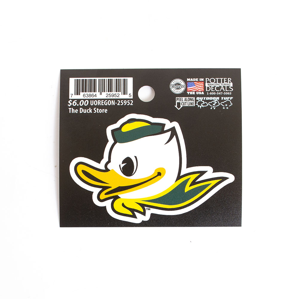 Fighting Duck, Potter Decals, Die cut, Decal