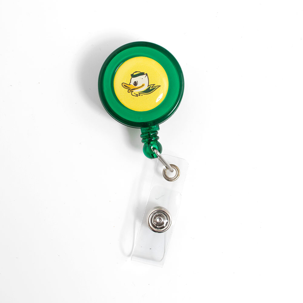 Fighting Duck Forest Retractable Badge Holder