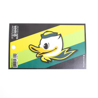 Fighting Duck, Striped, Oval, Decal