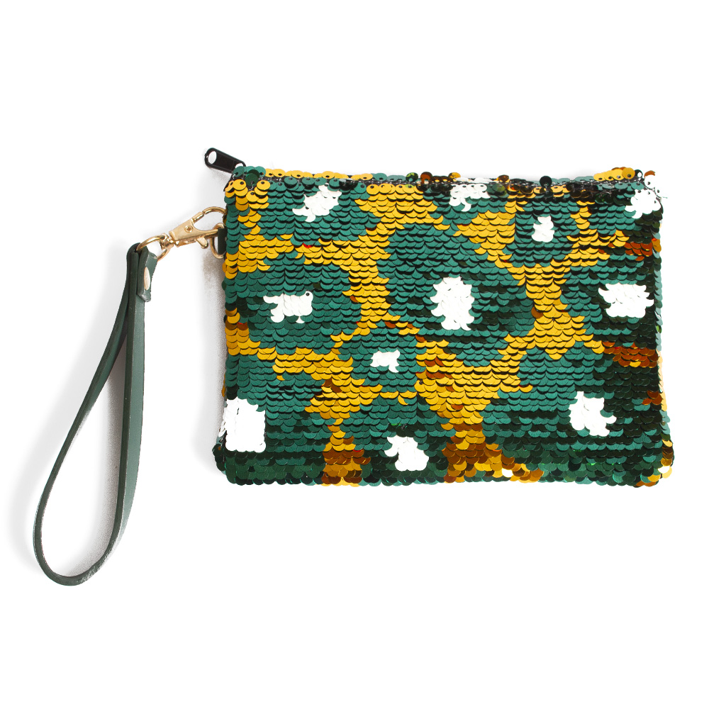 Go Ducks, Sequined, Wristlet