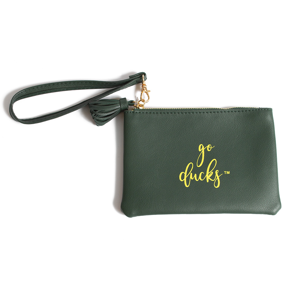 Go Ducks, Vegan Leather, Wristlet