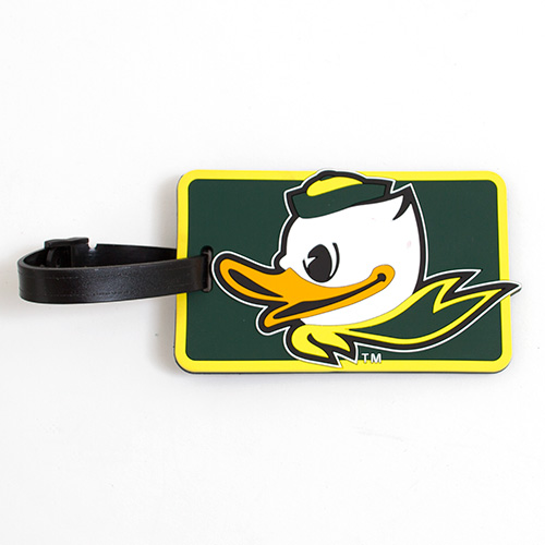 Forest Green Fighting Duck Soft Bag Tag