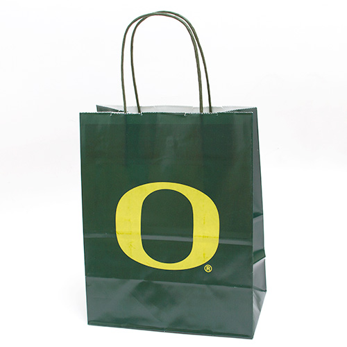 Forest Green Gift Bag with Yellow O 8 x10
