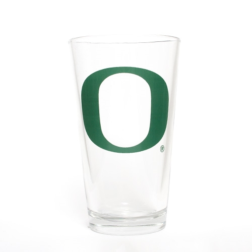 Forest Green O Pint Glass 16 oz