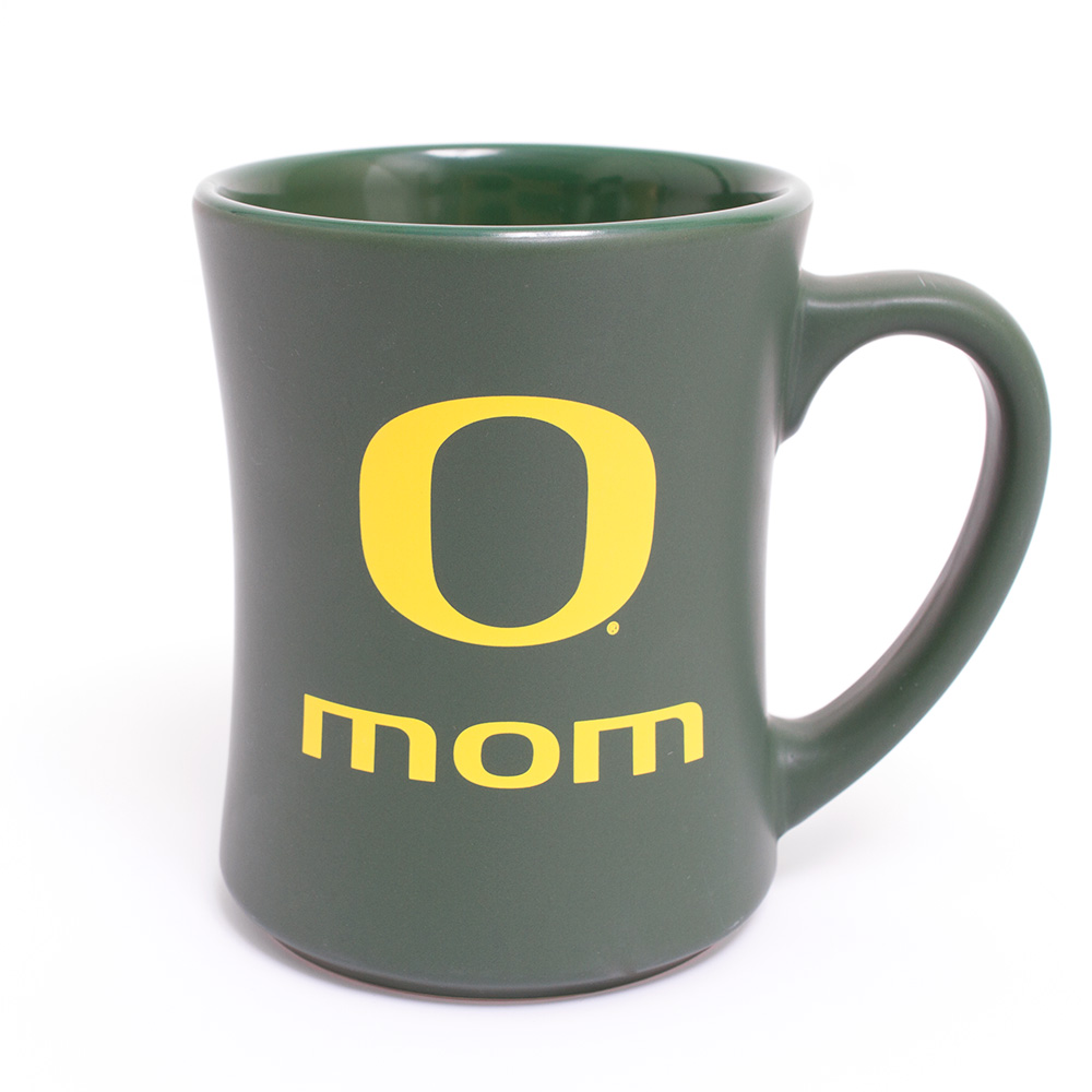 Forest Green and Yellow O Mom Mug 16oz