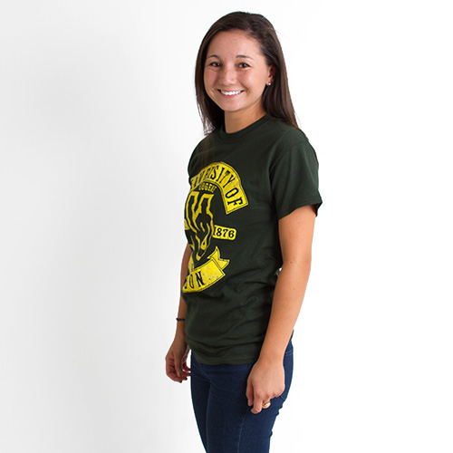 Forest Interlocking UO University of Oregon Tee