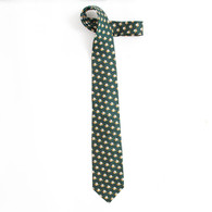 Forest Repeating Fighting Duck Silk Tie